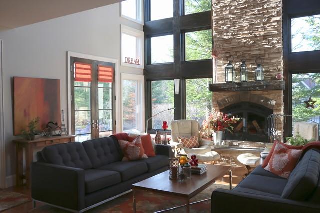 Caledon Fresh Traditional transitional-living-room