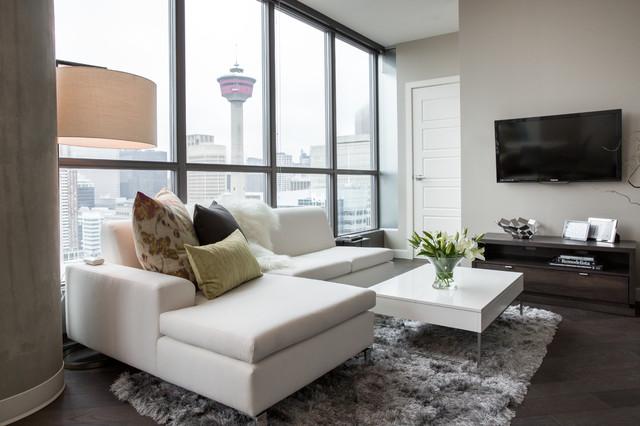 calgary condo modern living room calgary by
