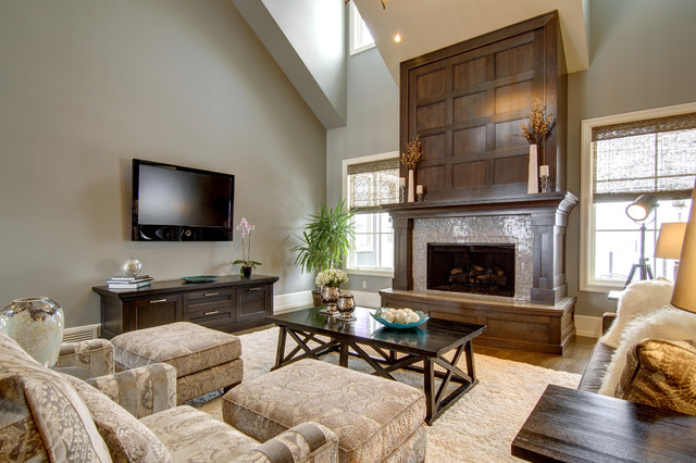 Calgary S Country Chic Living Traditional Living Room