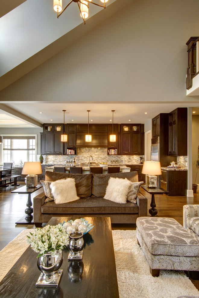 Inspiration for a timeless living room remodel in Calgary