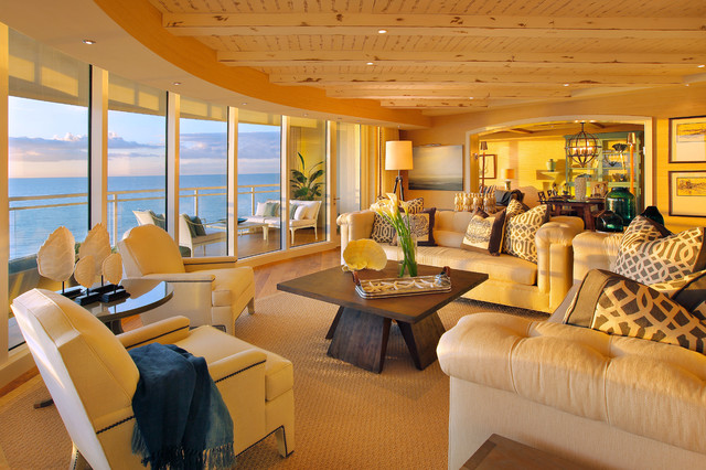 California Coastal In Naples Florida Contemporary Living Room