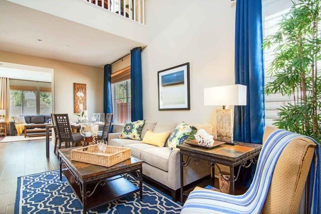 California Coastal Mediterranean Beach Style Living Room Los Angeles By Elegant Domain