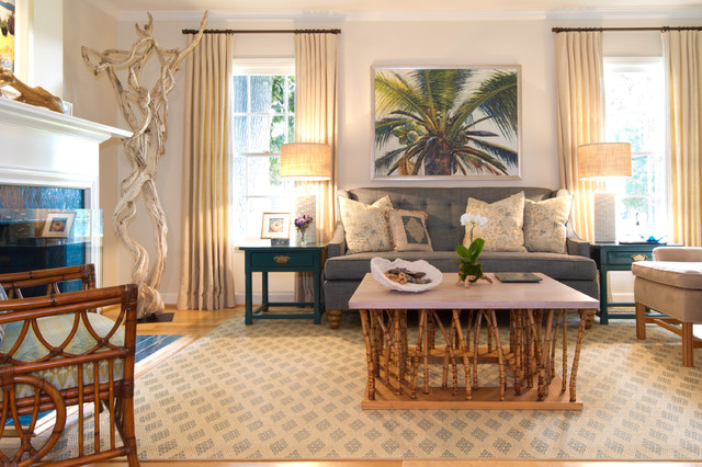 California Cottage beach-style-living-room