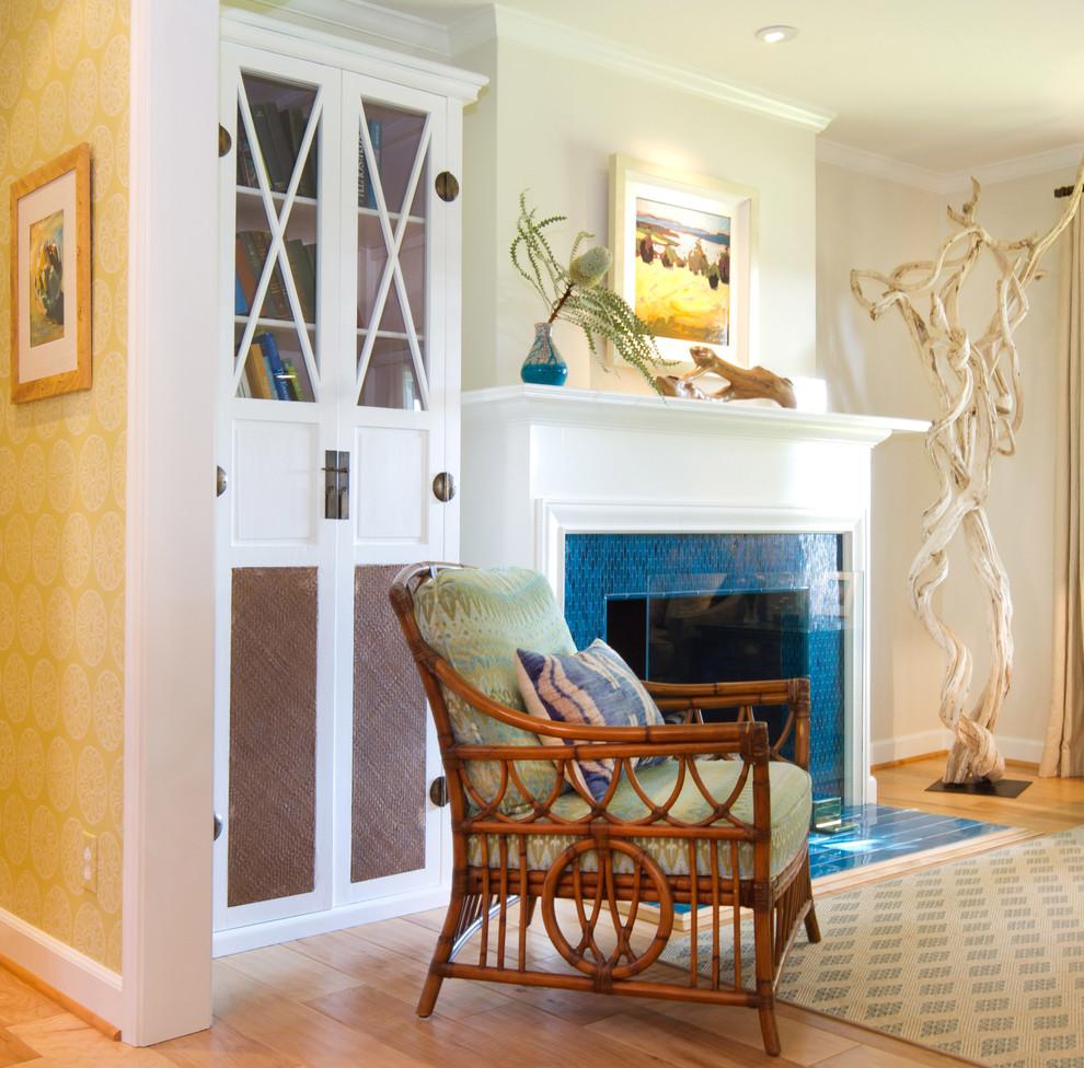 Living room - coastal living room idea in Los Angeles