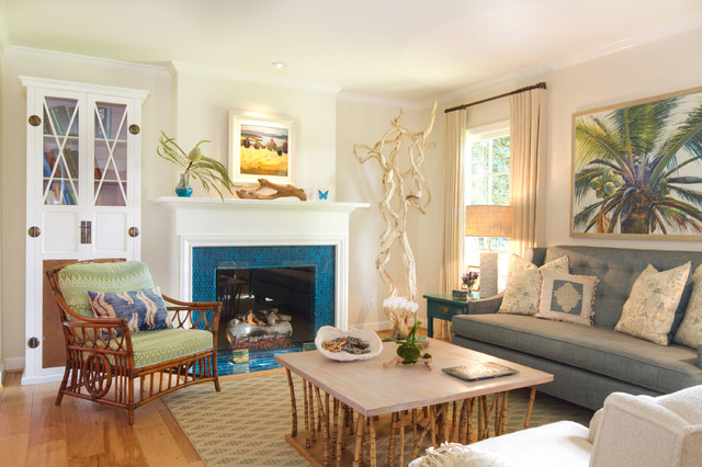 california cottage beach style living room los