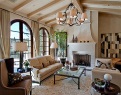 California Mediterranean eclectic living room