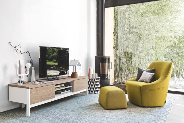 Calligaris Alma Chair And Factory Sideboard Contemporary Living Room