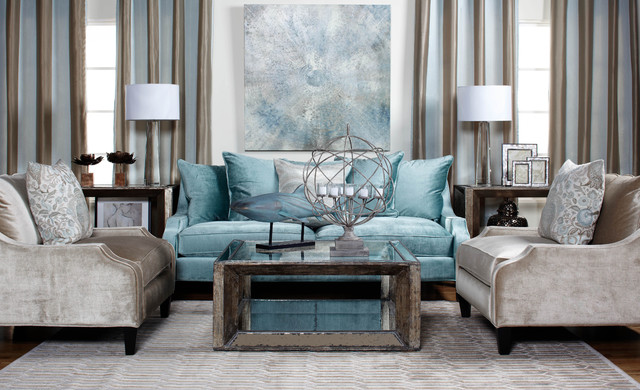 Calm Cool Collected Traditional Living Room Los