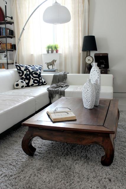 Calm World Living modern-living-room