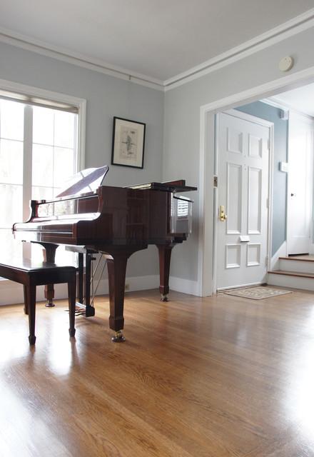 Calming living room color design craftsman living room san francisco by rachel perls for Calming colors for living room