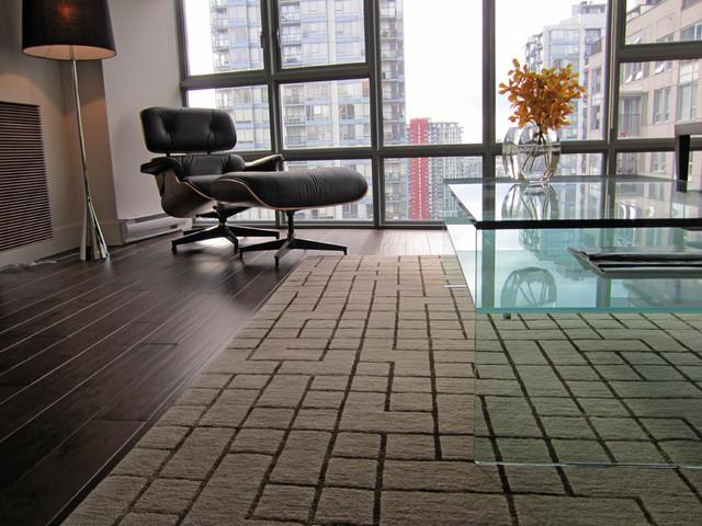 Cambie Condo Design contemporary-living-room