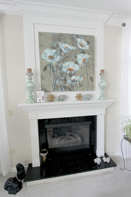 Cambria Fireplace Surround & Hearth ~ Copley, OH - Transitional ...