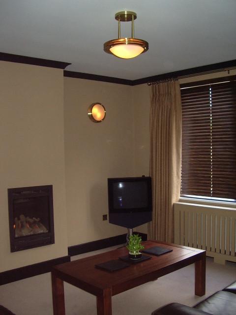 Cambridge manhattan style modern living room for Manhattan interior decorators