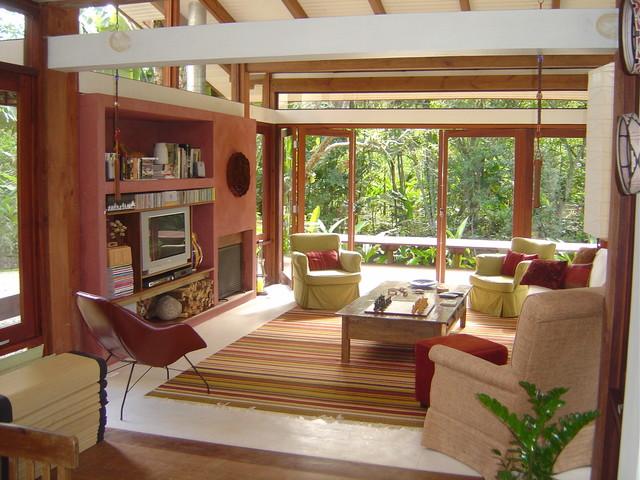 Camburi beach house tropical-living-room