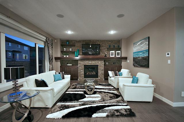 Cameron Model Show Home Contemporary Living Room Edmonton By Rococo Homes Inc