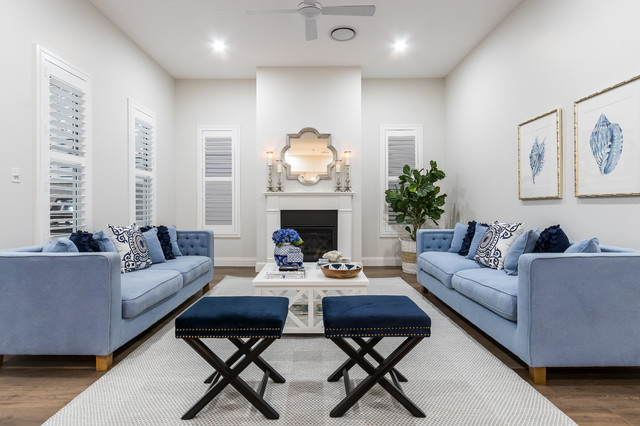 Camp Hill Hamptons Style Beach Style Living Room