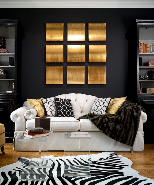 Candice olson design contemporary living room - Black and silver lounge design ...