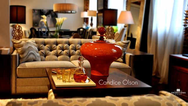 Candice Olson Midcentury Living Room Wichita By