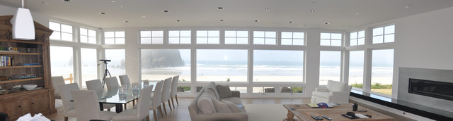 Cannon Beach Residence contemporary-living-room