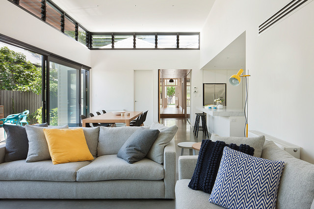 Canopy House Contemporary Living Room Melbourne By Bower