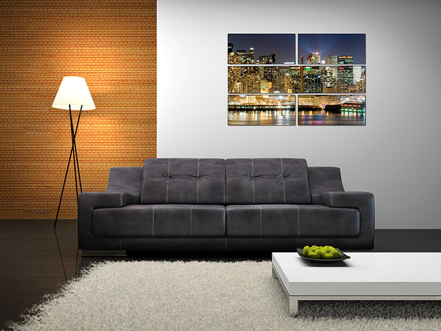 Canvas Prints   Modern   Living Room   New York   By Miracle ...