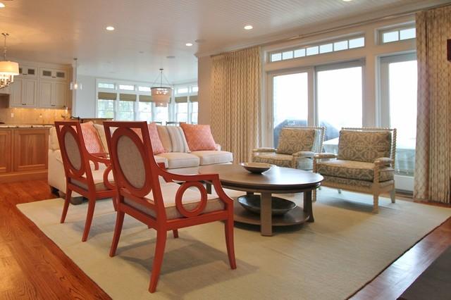 Cape cod beach house interior design beach style - Cape cod decorating style living room ...