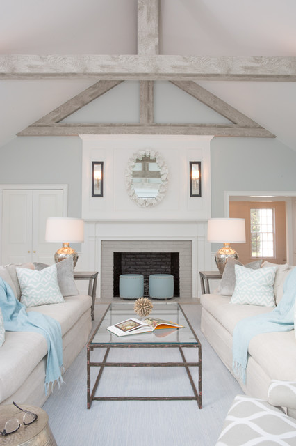 Cape Cod classic contemporary - Al Mare - Soggiorno - Boston - di Carolyn Thayer interiors