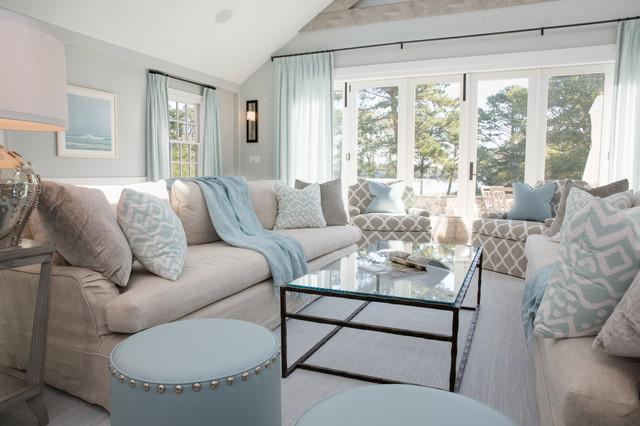 Cape Cod Classic Contemporary Beach Style Living Room By Carolyn Thayer Interiors