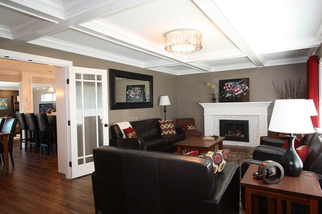 Cape Cod Couture Traditional Living Room Vancouver