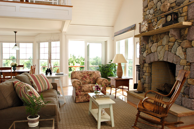 Cape Cod Home Renovation Traditional Living Room