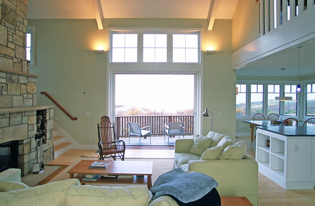 cape cod house contemporary living room boston by