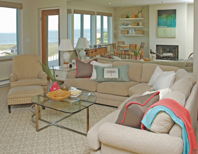 Cape cod hurricane restoration for Cape cod living room design
