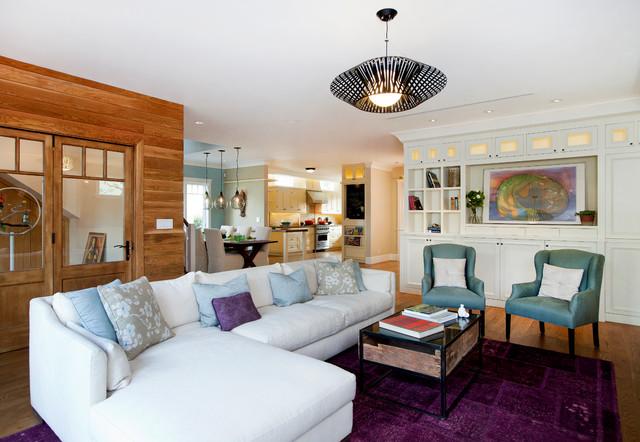 cape cod meets contemporary contemporary living room