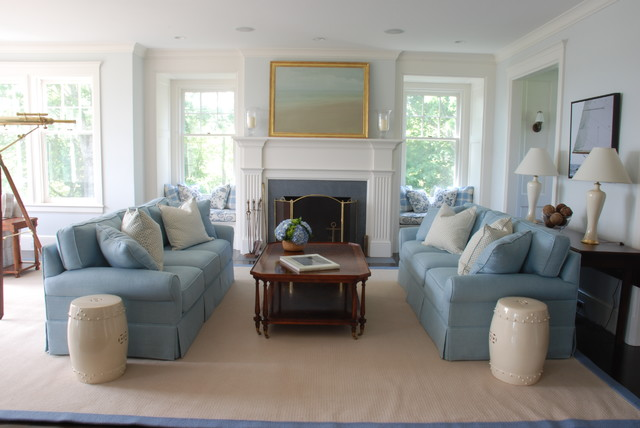 Beau Inspiration For A Beach Style Living Room Remodel In Boston