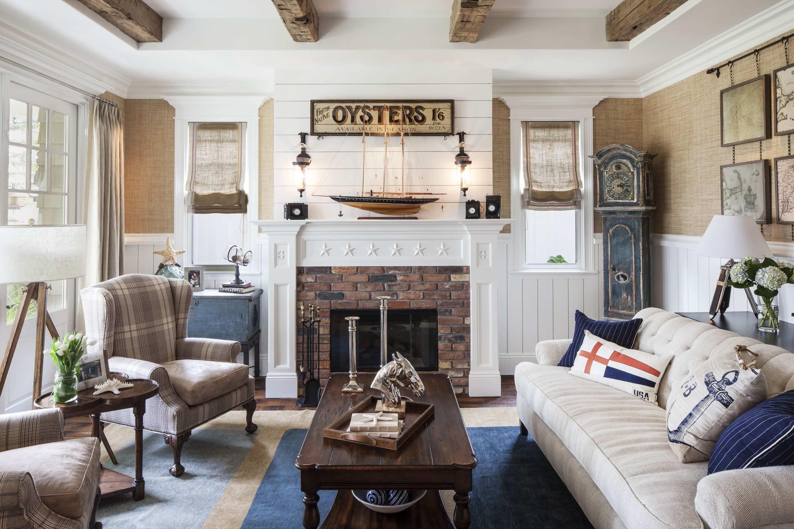 Nautical Living Room Ideas Houzz