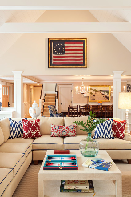 Good Cape Cod Summer Home Beach Style Living Room Part 21