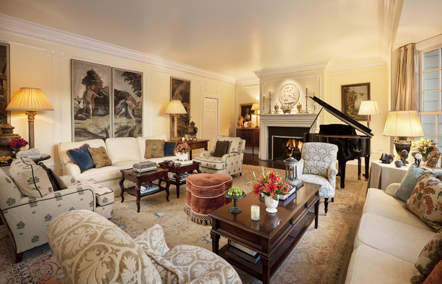 cape cod west traditional living room los angeles
