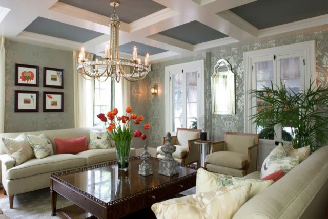 Elegant Cape May Designer House By Mark Little Of Design Home Interiors  Traditional Living Room