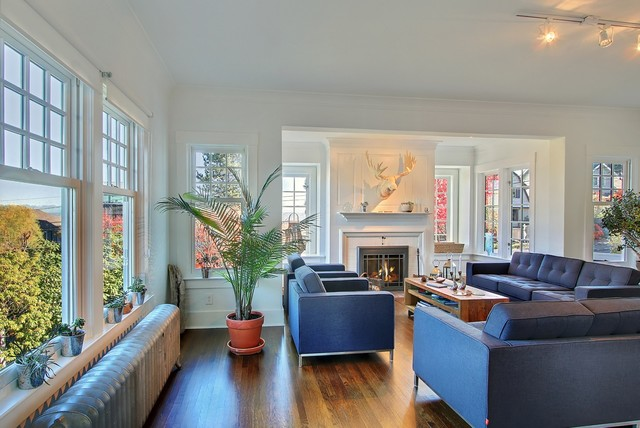 Capitol Hill Refresh eclectic-living-room