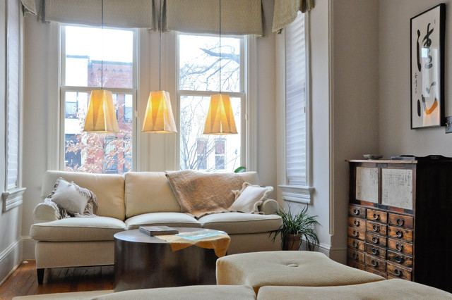 Capitol Hill Row House Asian Living Room DC Metro By CM Glover - Row house living room design