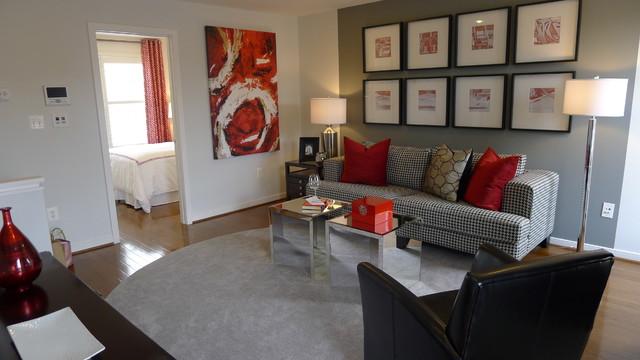 Capitol Quarter Contemporary Living Room Dc Metro