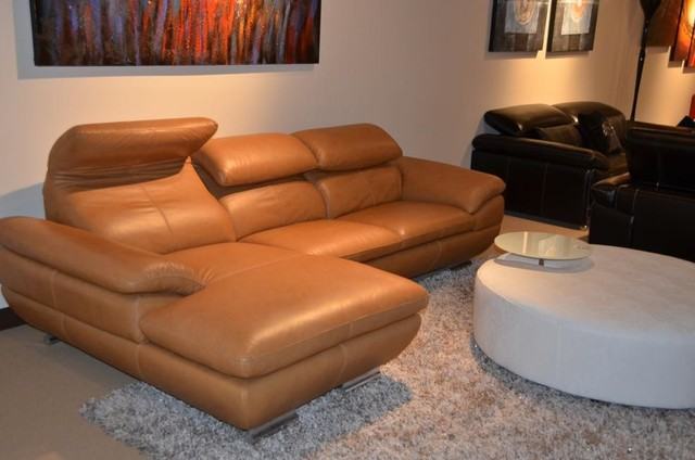 Wondrous Caramel Sectional Sofa In Top Grain Italian Leather Modern Caraccident5 Cool Chair Designs And Ideas Caraccident5Info