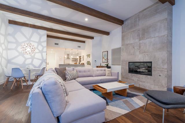 Cardiff Mid Century Modern Beach House Beach Style Living Room