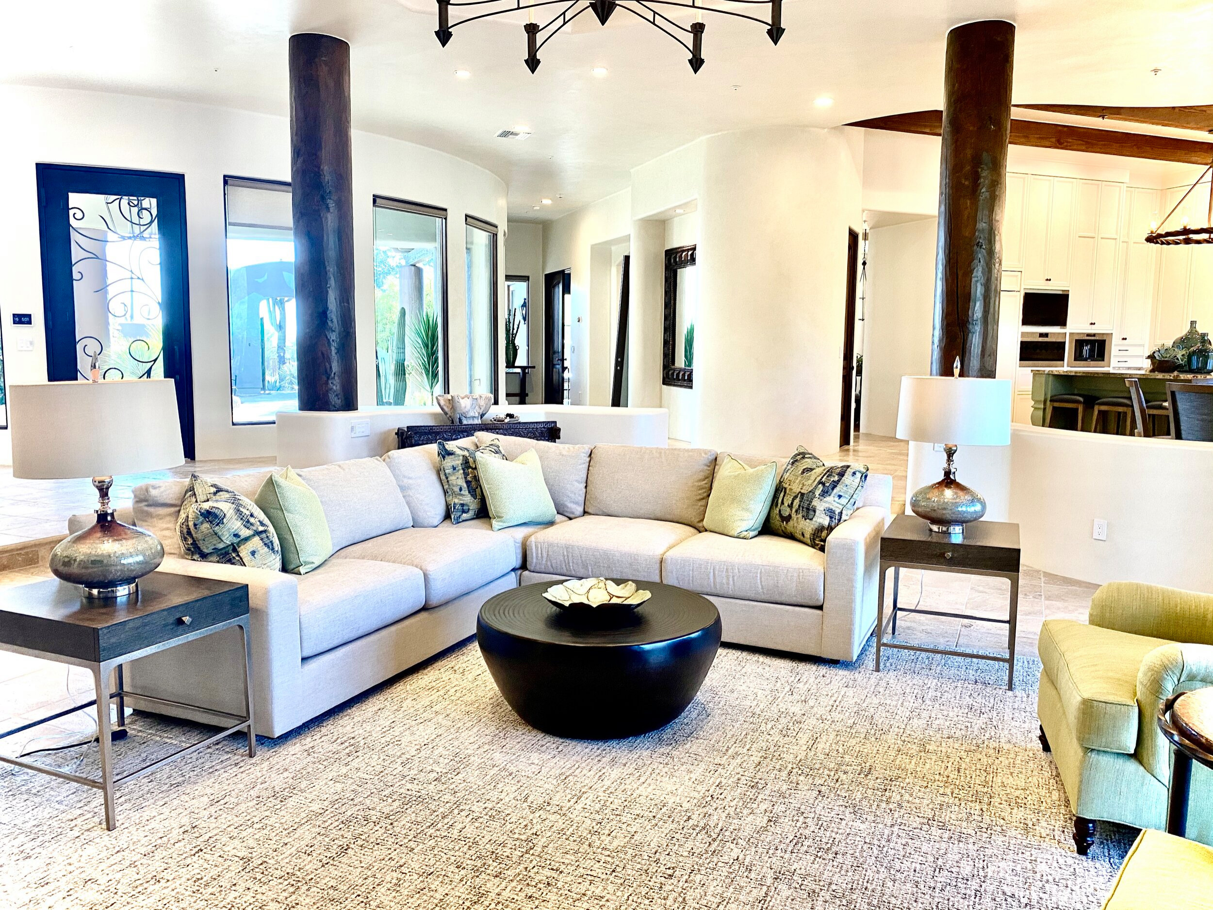 Living room - transitional living room idea in Phoenix