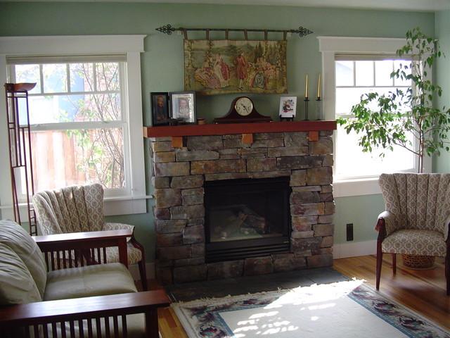 Carftsman craftsman living room denver by jd designs for Craftsman living room design ideas