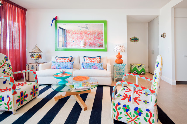 Caribbean carnivale a colourful bizarre eclectic for Caribbean living room ideas