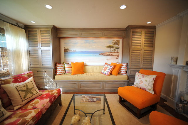Caribbean Oasis Contemporary Living Room