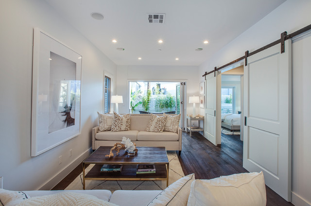 Caribbean Style In Manhattan Beach Beach Style Living Room By Luke Gibson Photography