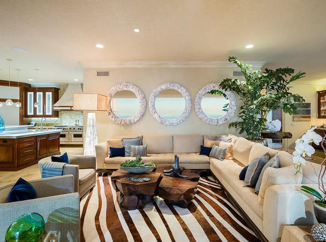 Carlsbad California Modern Tropical Living Room