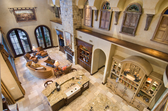Carlton Woods The Woodlands Tx Mediterranean Living Room Houston By Twenty Two Fifty